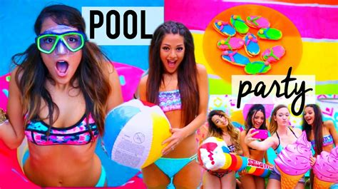 diy hairstyles niki and gabi summer pool party diy decor treats ideas things to do