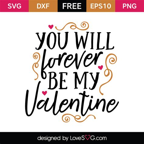 will you be my text you will forever be my lovesvg