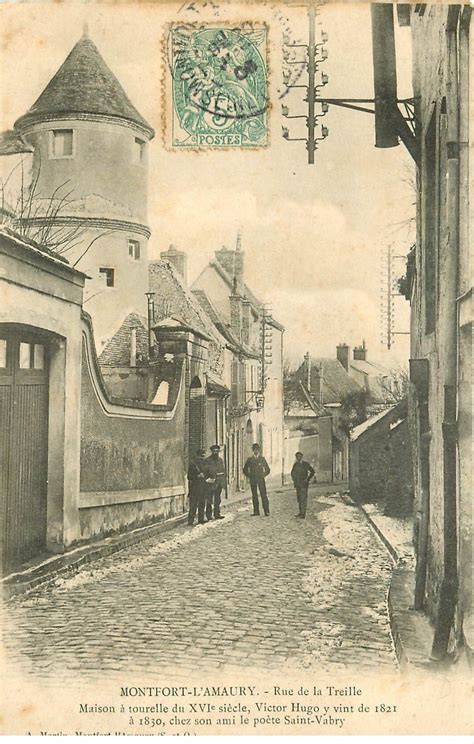 La Treille Montfort L Amaury by 78 Montfort L Amaury Rue De La Treille 1908 Facteur Avec