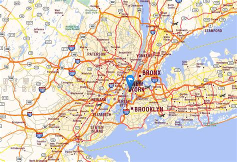 map of the us new york new york city map