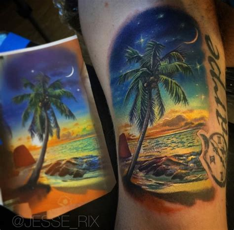 beach scene tattoo 84 best images about on