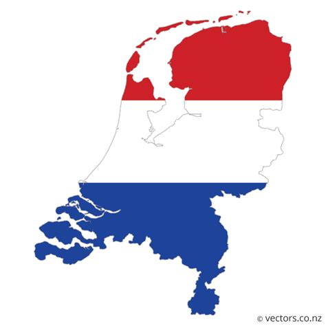 netherlands country map flag vector map of the netherlands vectors