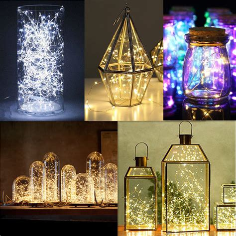 how are fairy lights wired 20 30 50 100 led string lights copper wire battery powered waterproof diy ebay