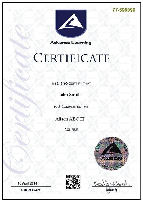 example cio cv alison com free online diploma amp certificate courses