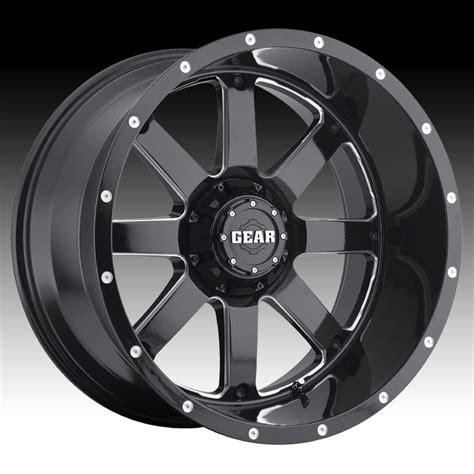 big alloy wheels gear alloy 726mb big block 726 black milled custom rims