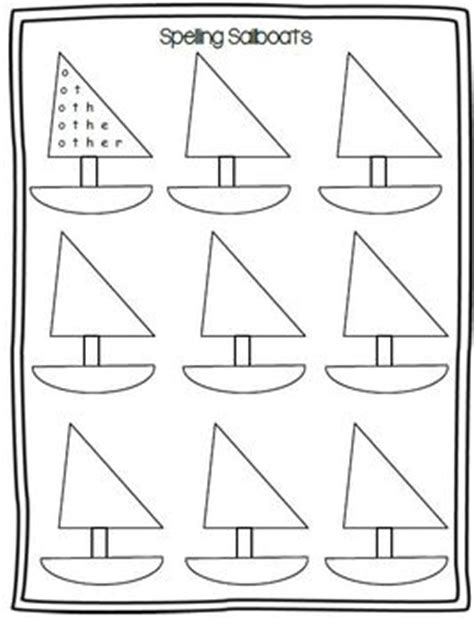 sailboat template for preschool sailboat spelling template