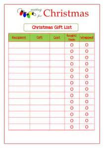 Free Printable Christmas Gift List Template Cute Christmas Wish List Template Free Printable Viewing