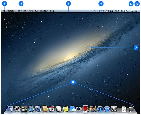 osx top bar mac basics desktop apple support