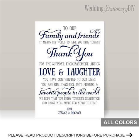 thank you card templates wedding gifts navy wedding reception thank you card templates 2480758