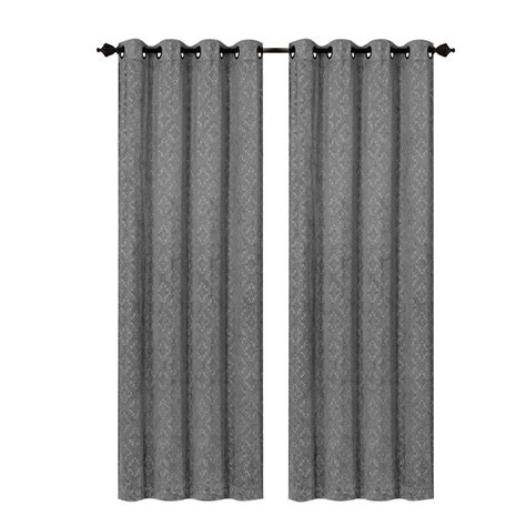charcoal velvet curtains creative home ideas matine trellis extra wide charcoal