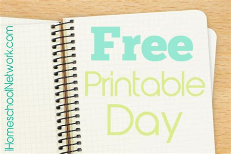 free printable free printable day ihomeschool network