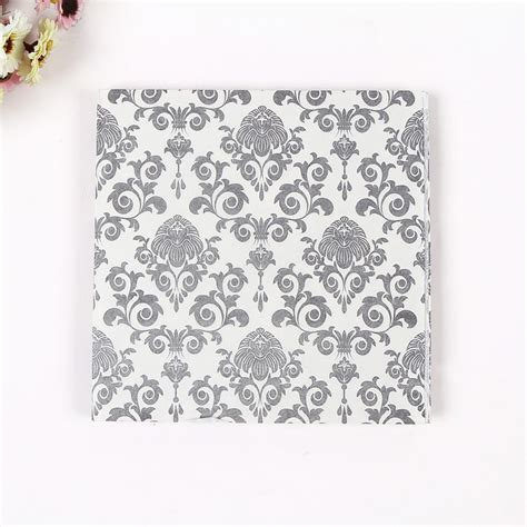 Printed Tissue Paper For Decoupage - food grade table paper napkins tissue flower black white