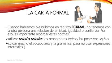 la carta formal y la carta informal material adaptado