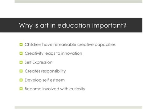 arts education why is it important arts to grow importance of art