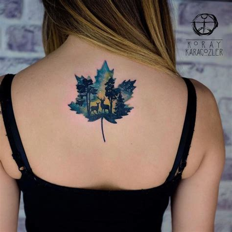 watercolor tattoo winnipeg 1000 ideas about maple leaf tattoos on leaf