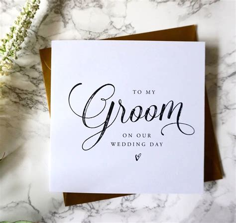 To My Groom Wedding Card to my groom wedding card by sweet pea sunday
