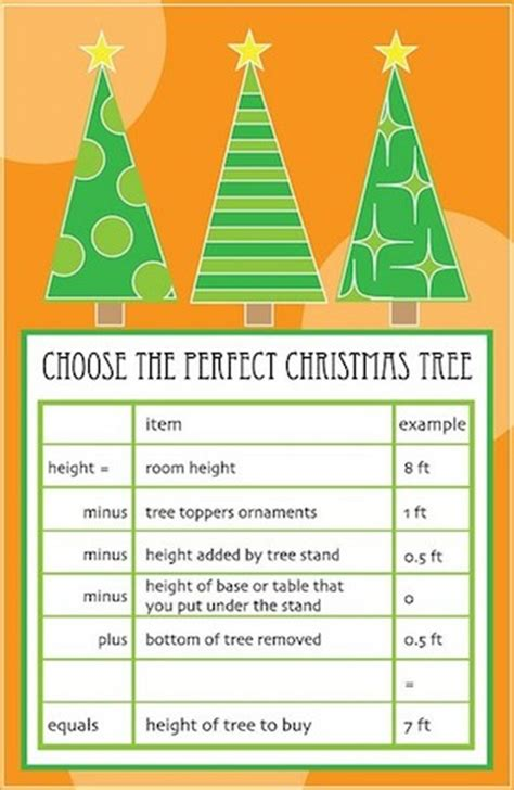 christmas tree height guide popsugar home