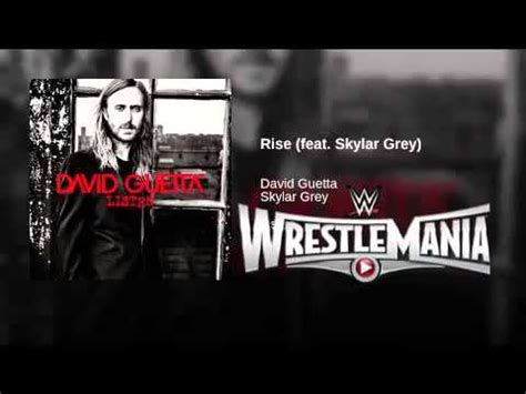 theme song wrestlemania 31 wrestlemania 31 theme song quot rise quot by david guetta youtube