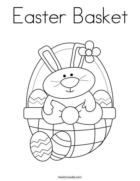 Easter Basket Coloring Page Twisty Noodle