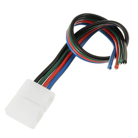 Konektor Led 2835 4 pin 8mm width solderless connectors extension cable wire