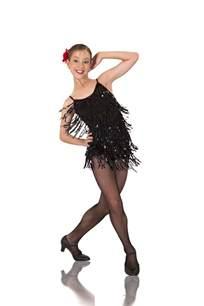 black sequin tango dance costume spanish jazz tap