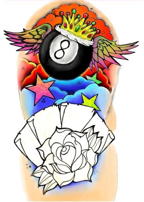 old school tattoo eight ball new school 8 ball sleeve by bmxninja on deviantart