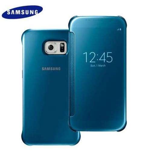 Terlaris Samsung Galaxy S6 Edge Clear View Cover Cover Silver Origi buy samsung galaxy s6 clear view cover