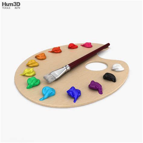 Painting Palette painting palette 3d model hum3d
