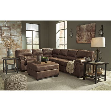 signature design sectional signature design by ashley bladen 3 piece faux leather