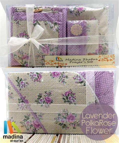 Mukena Polka Flower prayer set lavender polka flower jual quran murah