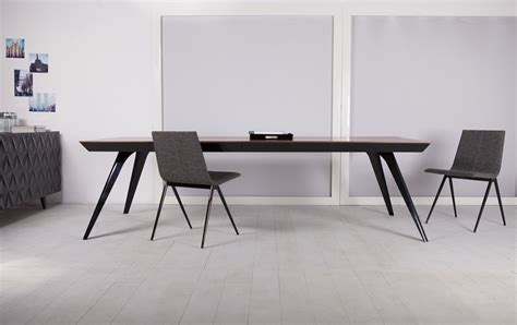 dining table nj berenice modern dining black and teak ultra contemporary rectangular dining table