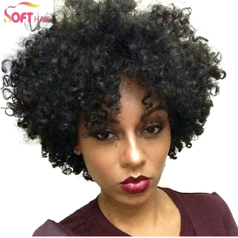 short afro kinky hairstyles short kinky curly afro wigs realistic lace front wig