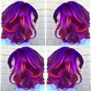 sunset colored hair get the look summer sunset hair color by ash fortis