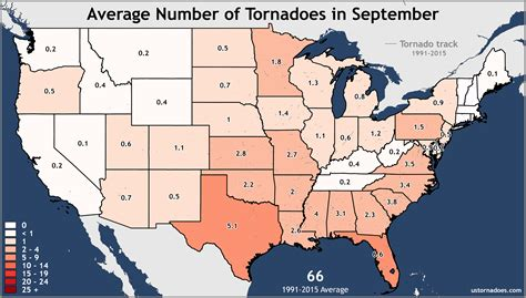 map of tornadoes in usa annual and monthly tornado averages for each state maps