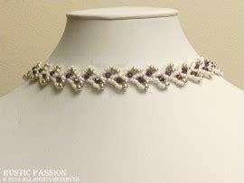 vine choker white purple and silver rustic