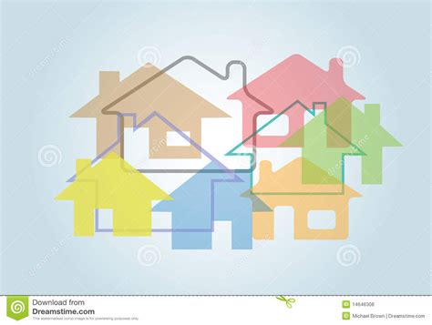 home abstract house shapes houses background stock vector