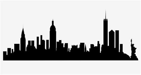 york city skyline silhouette city skyline silhouette