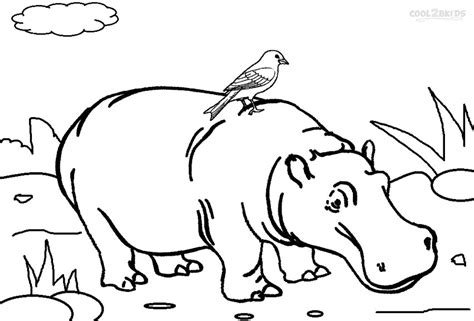 hippo coloring page printable hippo coloring pages for cool2bkids