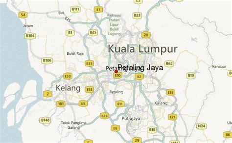 petaling jaya map petaling jaya location guide