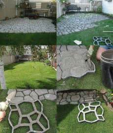 Diy Backyard Patio Ideas Crafty Finds For Your Inspiration No 5 Walkways Concrete Path And Diy And Crafts