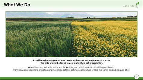 agriculture powerpoint template green agriculture premium powerpoint template slidestore