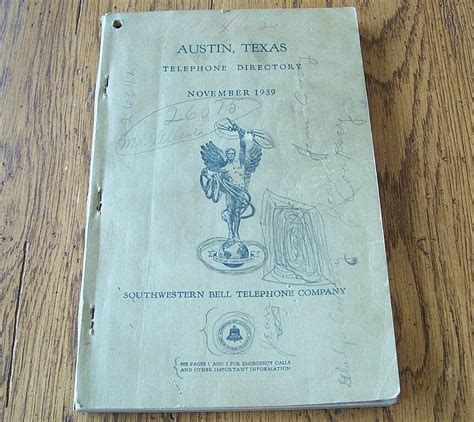 Southwestern Bell Phone Number Lookup 1939 Telephone Directory Southwestern Bell From Colemanscollectibles On