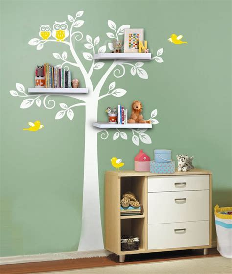 childrens bedroom wall shelves wall shelf tree nursery wall decals decorative wall