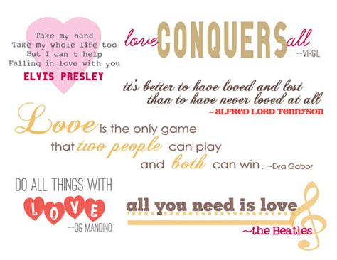 valentines day  love quotes  word art