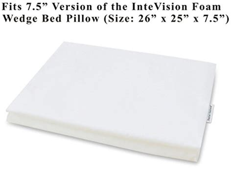 intevision foam wedge bed pillow intevision 400 thread count 100 egyptian cotton