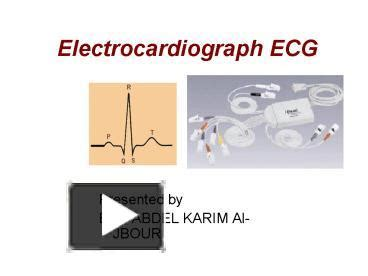 ecg tutorial powerpoint ppt electrocardiograph ecg powerpoint presentation
