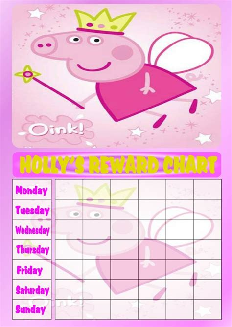 picture of the peppa pig reward chart download the free personalised pink peppa pig princess reward chart