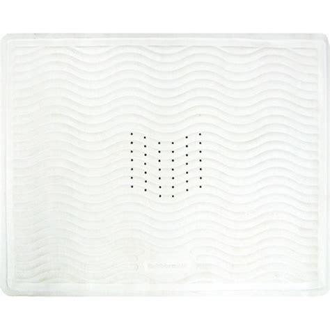 rubbermaid rubber shower stall mat white walmart