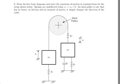 free diagram equations solved 6 draw the free diagrams and write the equat
