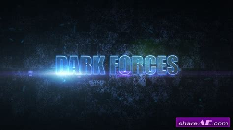 Videohive Dark Forces 187 Free After Effects Templates After Effects Intro Template Shareae Videohive After Effects Templates Free